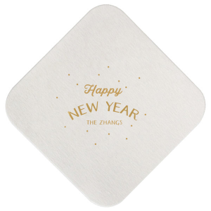 Happy New Year Fireworks Coaster