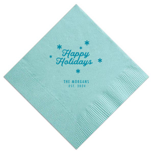 Happy Holidays Snowflake Napkin