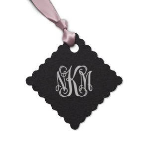 Vines Monogram Tag