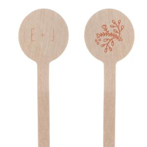 Floral Initials Stir Stick