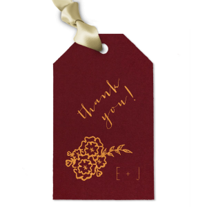 Floral Initials Gift Tag