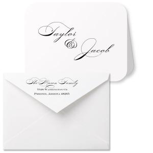 Romantic Script Note Card