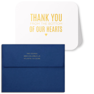 Thank You From Our Hearts Note Card
