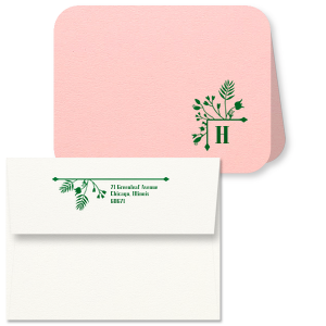 Garden Initial Note Card