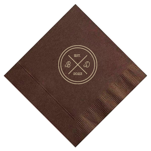 Circle Badge Initials Napkin