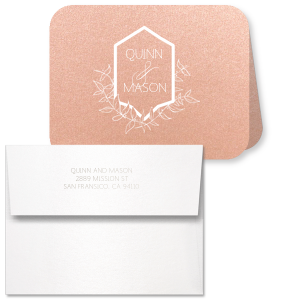 Leaf Crest Note Card
