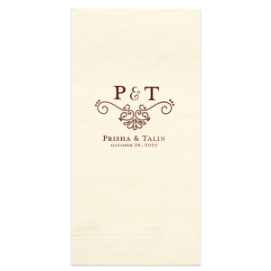 Ampersand Flourish Napkin