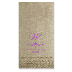 Letter with Fancy Accent Napkin