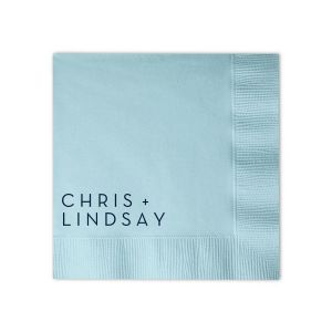 Modern Names Wedding Napkin