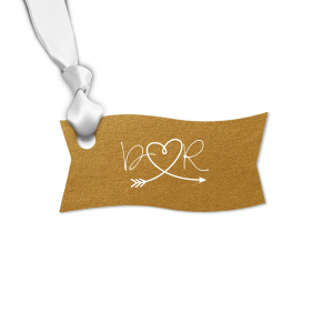 Initial Heart Arrow Tag
