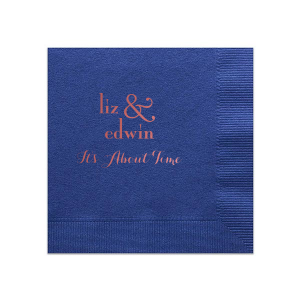 Large Ampersand Quote Napkin