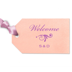Welcome and Initials Gift Tag
