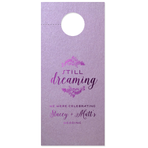 Floral Still Dreaming Door Hanger