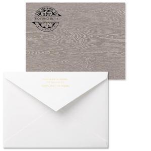 Wedding Badge Note Card