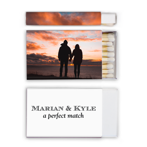A Perfect Match Couple Photo/Full Color Matchbox