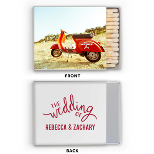 The Wedding Of Photo/Full Color Matchbox