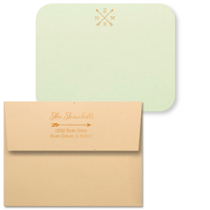 Established Arrows Note Card with Envelope