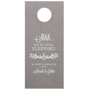 Still Sleeping Flowers Door Hanger