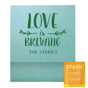 Love Is Brewing Leaf Branch Tea Favor