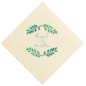 Leaf Frame Photo/Full Color Napkin