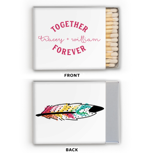 Together Forever Feather Photo/Full Color Matchbox