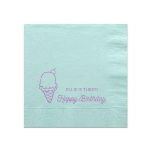 Ice Cream Cone Napkin