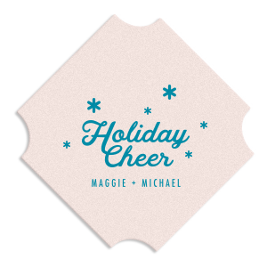 Holiday Cheer Snowflake Coaster