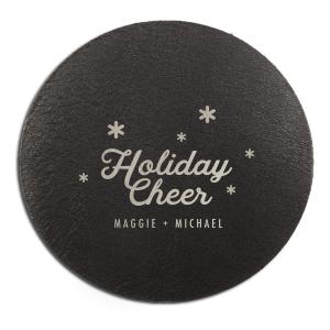 Holiday Cheer Snowflake Coaster