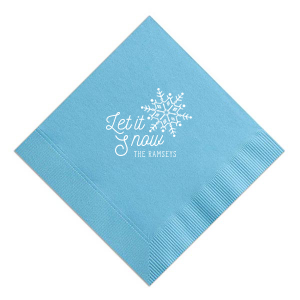Let It Snow Winter Napkin