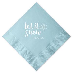 Let It Snow Snowflake Napkin