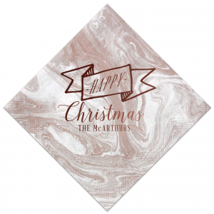 Happy Christmas Ribbon Napkin