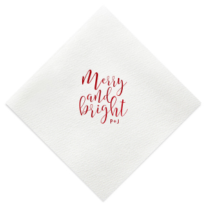Merry And Bright Christmas Napkin