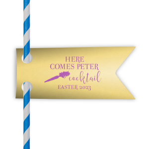 Here Comes Peter Cocktail Straw Tag