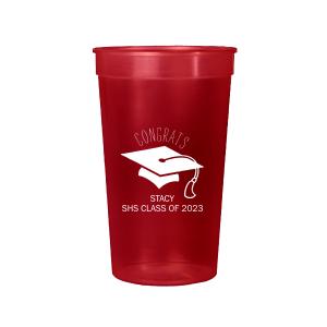 Graduation Cap Stadium Cup