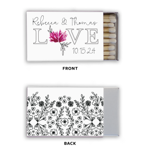 Love Floral Photo/Full Color Matchbox