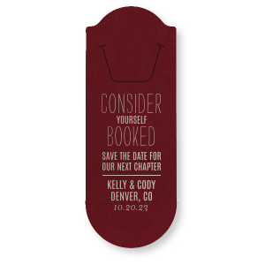 Booked Save the Date Bookmark