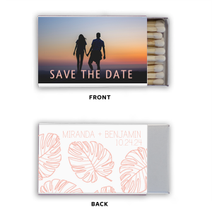 Save the Date Palm Photo/Full Color Matchbox