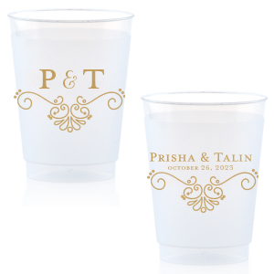 photo of Personalized Plastic Wedding Cups