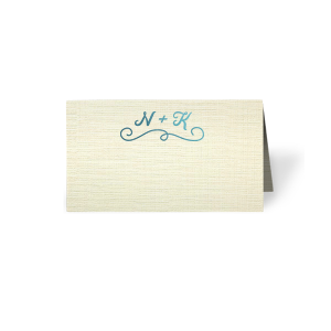 Fancy Flourish Place Card