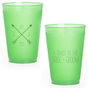 Arrow Monogram Frost Flex Cup