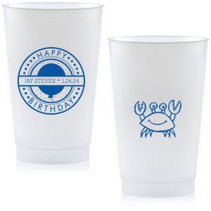 Birthday Badge Frost Flex Cup