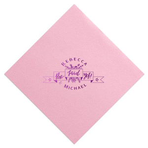 She Said Yes Floral Ribbon Napkin