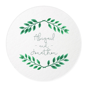 Green Wreath Photo/Full Color Coaster