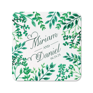 Lush Greenery Photo/Full Color Coaster