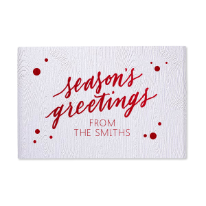 Season's Greetings Memo Pad