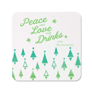 Watercolor Trees Photo/Full Color Coaster