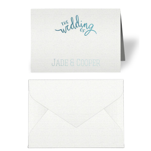 Wedding Of Place Card