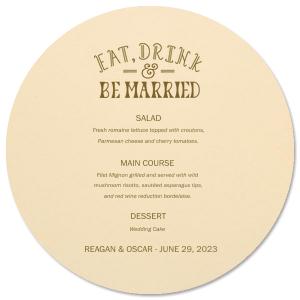 Eat Drink Be Married Menu