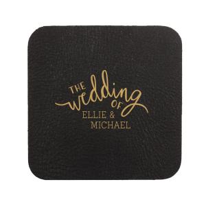 Script Wedding Coaster