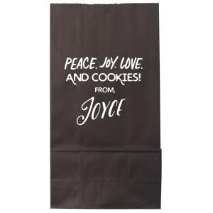 Peace Joy Love Cookies Bag